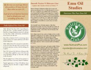 Nutricare Plus Pure Emu Oil Brochure Page 1